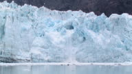 WS, Snow and ice pouring off glacier into water, Margerie Glacier, Tarr Inlet, Glacier Bay National Park and Preserve, Alaska, USA