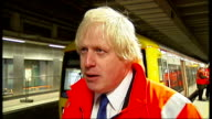 Snow and icy conditions across the UK ENGLAND London Shoreditch INT Boris Johnson interview SOT On forecasts for heavy snow slowmoving traffic making...