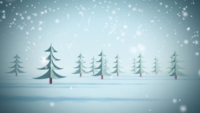 Snow background. Loop