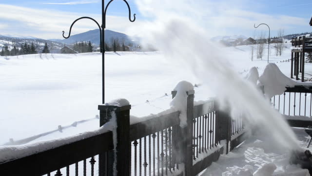 Snow Blowing on a Deck