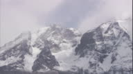 Snow covered mountain peaks in the Chilean Andes. Available in HD.