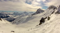 Snow Covered Mountain Timelapse