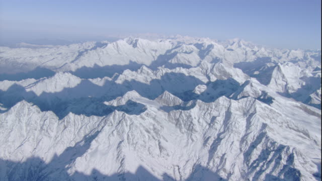 Snow covers the Himalayas. Available in HD.