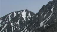 Snow dusts peaks of the Hodaka Range in Japan.