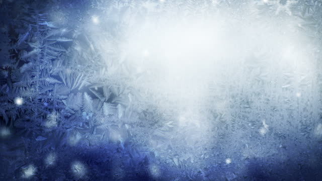 Snow Flakes Background Loop - Icy Blue (Full HD)