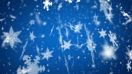 Snow Flakes Background Loop - Large Blue (Full HD Video)