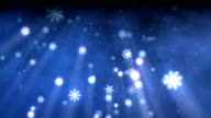 Snow flakes christmas background blue