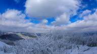 Snow Scene of Taegisan Mountain (Famous mountain in Korea) in Winter