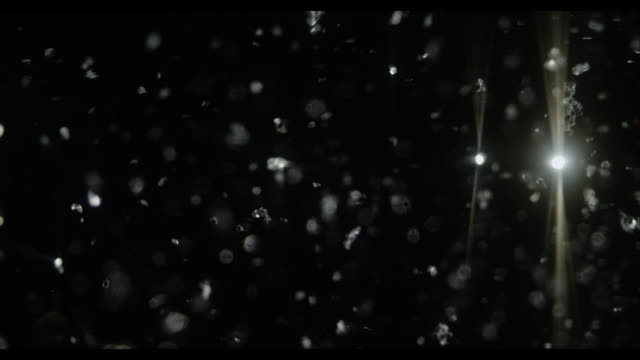 Snow sliver glitter with black background Abstract