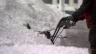 Snowblower working on big drift