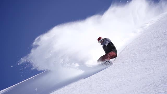 Snowboarder la polvere a