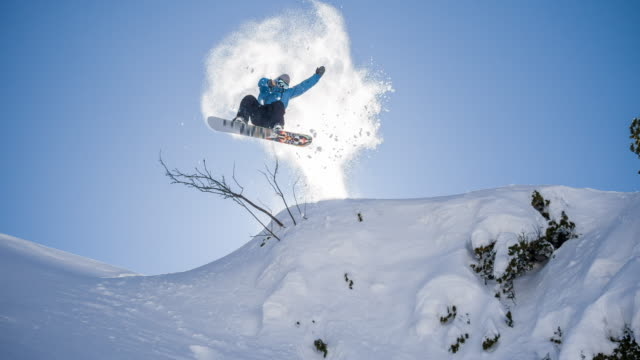 Snowboarder Jumps