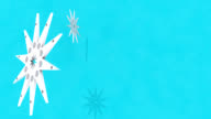 3D Snowflake Stars Spinning Holiday Background