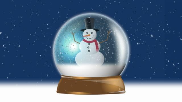 Snowman Christmas Background Loop