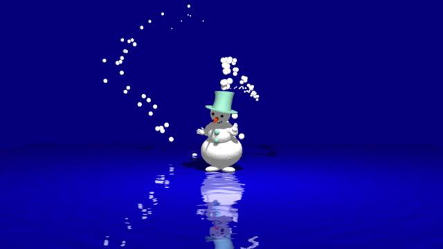 Snowman dance on ice