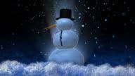 snowman loop alpha included HD