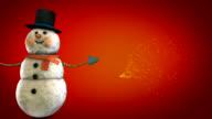 snowman-christmas 3d animation