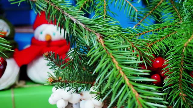 Snowmen under Christmas tree