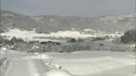 Snowscape In Iiyama City, Japan