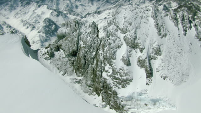 Snowy Arete In Chilean Andes Mountains