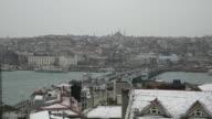 Snowy Day At Istanbul Karakoy