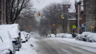 Snowy day in Park Slope Brooklyn after the 2015
