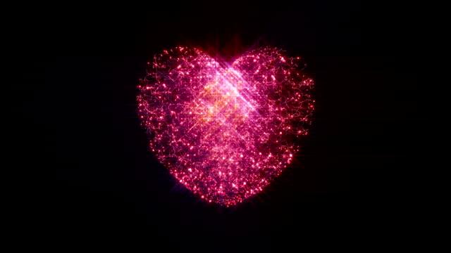 Snowy Glowing Heart
