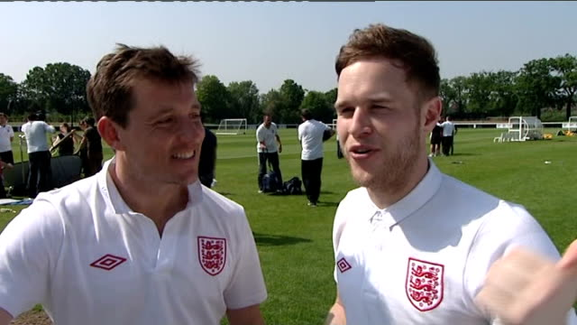 press day interviews Olly Murs and Ben Shephard interview and talking to press SOT Marvin Humes and Aston Merrygold interview