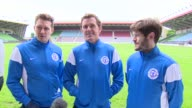 Soccer Aid 2016 interviews Matthew Morrison Sir AP McCoy and Iwan Rheon interview SOT / Louis Tomlinson Jack Whitehall and Marvin Humes along / David...