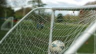 MS SLO MO Soccer ball hittinhg net / Manchester, United Kingdom
