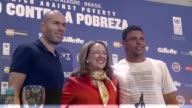 Soccer legends Ronaldo and Zinedine Zidane are kicking up their good will with a charity match against poverty Wednesday organized by the United...