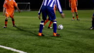 Soccer player dribbling ball - Two shots