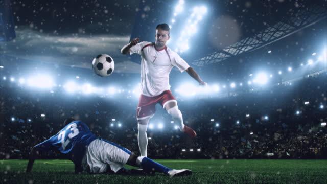 Fußball-Spieler macht Spaß