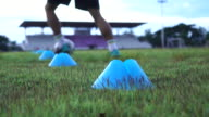 4K MS soccer player training football session