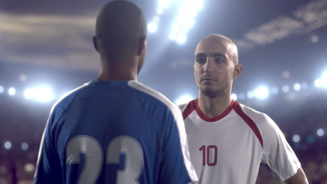 Soccer Players Arguing at the beginning