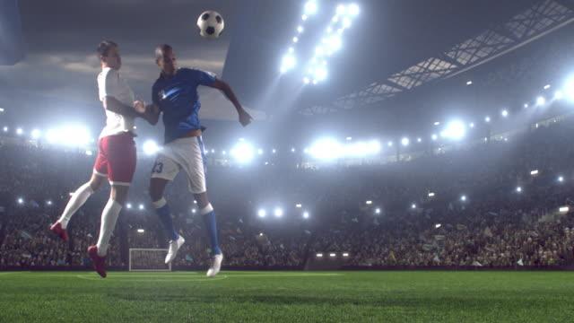 Soccer players on stadium