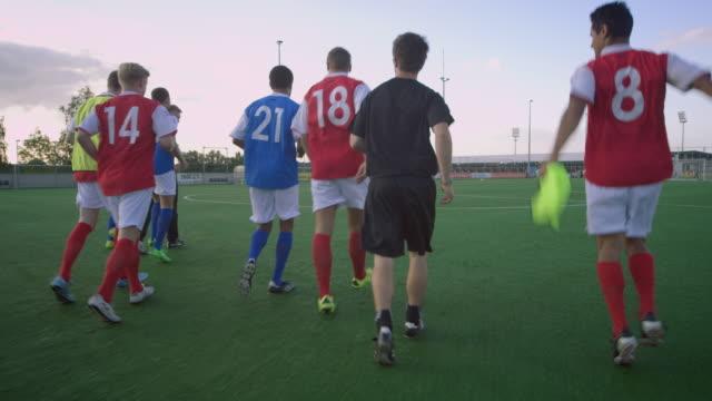 Allenamento di calcio sul campo di gioco
