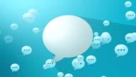 Social Media Blue Blank Speech Balloon