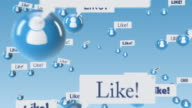 social media community with like balloons