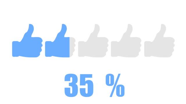 Social-media-Daumen hoch inforgraphic design-element