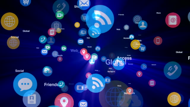 Social network and Media - Blue