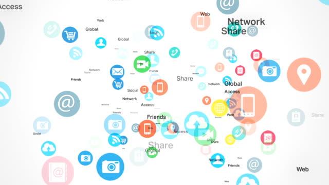 Social network and Media - White BG