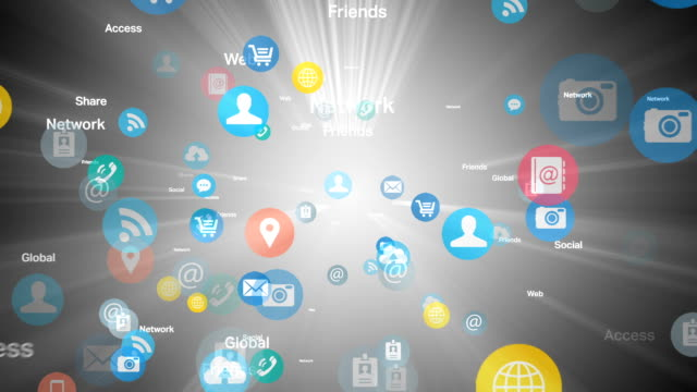 Social network and Media - White