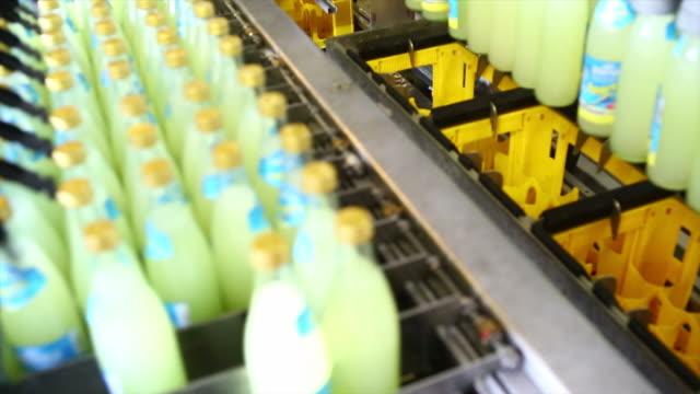 Soft Drink Bottling Line Close-up