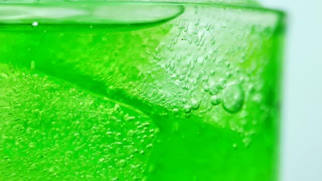 soft drink green apple close-up splashing