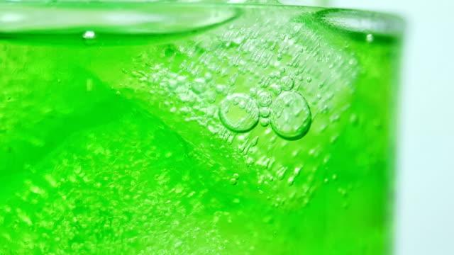 soft drink green close-up