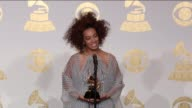 SPEECH Solange Knowles at 59th Annual Grammy Awards Press Room at Staples Center on February 12 2017 in Los Angeles California