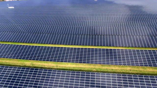 Feld solare Australia der Luft