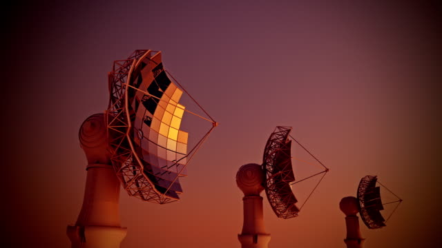 Solar panel dish HD animation