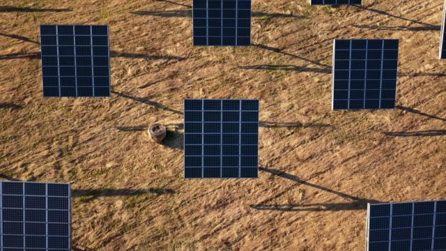 Gebied van de groene energie van de zonnepaneel op heuvels